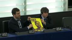 Puigdemont y Comín se estrenan como eurodiputados en el primer pleno del año en Estrasburgo
