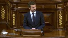 """Pablo Casado: """"Los españoles merecen un Gobierno que no les mienta"""""""
