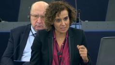 Rifirrafe entre Dolors Montserrat y Puigdemont en el Parlamento Europeo
