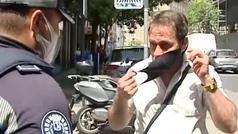 Primeras multas por no llevar mascarillas por la calle en Madrid