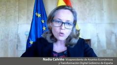 """Nadia Calviño rechaza la derogación de la reforma laboral por """"absurdo y contraproducente"""""""
