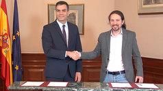 Pedro Sánchez y Pablo Iglesias acuerdan un gobierno de coalición