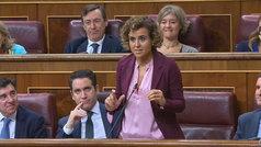"""La """"performance"""" de Dolors Montserrat en la sesión de control"""