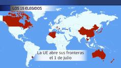 La Unión Europea abrirá sus fronteras a estos 15 países a partir del 1 de julio