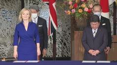 Japón y el Reino Unido firman un nuevo marco comercial tras el Brexit