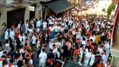 Fiesta de irresponsables en Irún