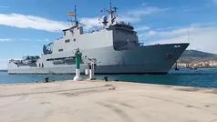 Coronavirus: Llega a Melilla un buque de la Armada con servicios sanitarios