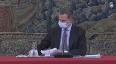 Felipe VI se pone en cuarentena