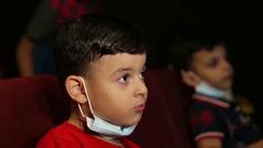 Un 'Cine Bus' recorre las calles de Gaza para acercar el séptimo arte a los ciudadanos