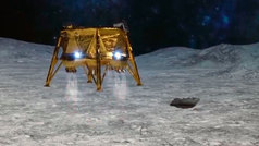 La sonda israelí 'Beresheet' se estrella en la superficie lunar
