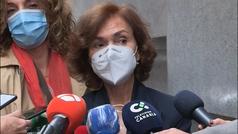 """Carmen Calvo arremete contra la posición """"lamentable"""" de Ayuso"""
