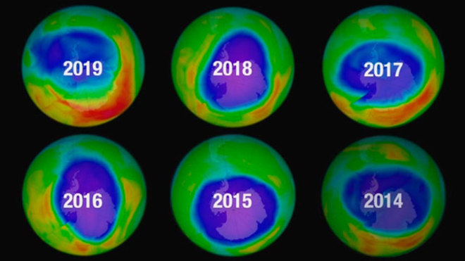 Agujero de la capa de ozono alcanza su mínimo histórico