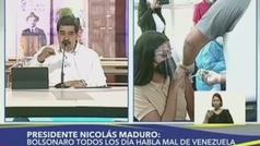 """Maduro llama """"imbécil"""" a Bolsonaro en su programa de televisión"""