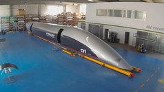 Así es la primera cápsula Hyperloop