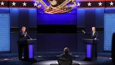 Debate bronco entre Trump y Biden