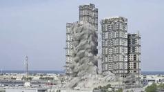 Demuelen en 10 segundos cuatro torres de 144 pisos