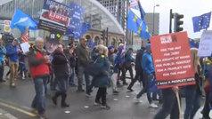 Protestas en Reino Unido para pedir un segundo referéndum sobre el Brexit