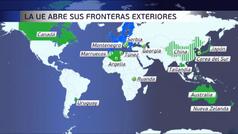Europa abre hoy sus fronteras a 15 países