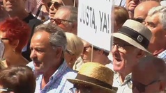 Miles de pensionistas reclaman en las fiestas de Bilbao unas pensiones dignas