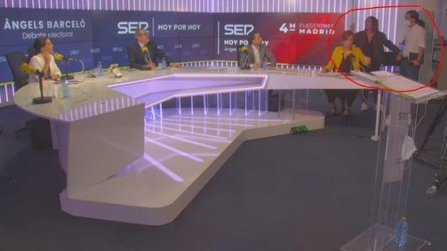 Vea el momento en que Iglesias abandona el debate tras discutir con Monasterio
