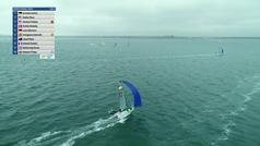 Caos en la regata que dio el oro del Mundial de 49er FX a Echegoyen y Barceló