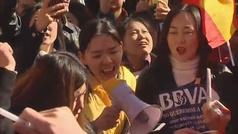 Cientos de ciudadanos chinos piden al BBVA el desbloqueo de sus cuentas