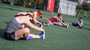 Último entrenamiento con Paula González para la Sanitas TELVA Running