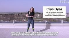 Crys Dyaz nos da la rutina perfecta para hacer en casa sin material, tiempo, ni espacio