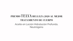 Premio TELVA Belleza 2020 al mejor producto de cuerpo