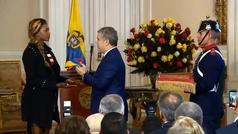 """Duque condecora a Ibargüen y dice que es ejemplo para """"inspirar"""" a Colombia"""