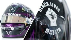 El espectacular casco de Lewis Hamilton en honor al 'Black Lives Matter'