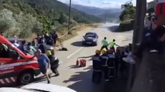 Impresionante accidente en el Rally do Alto Tamega, en Portugal