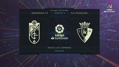 LaLiga Santander (J4): Resumen y goles del Granada 2-0 Osasuna