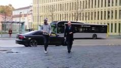 Así fue la llegada de Piqué al juzgado de Barcelona