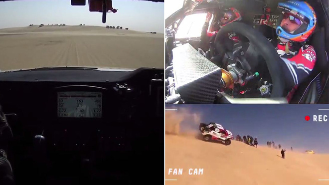 Espectacular onboard del accidente de Alonso en el Dakar 2020