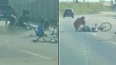 """Dramática llamada tras atropellar a 14 ciclistas: """"¡Hay cadáveres en el suelo!"""""""