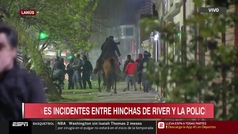 Graves incidentes entre hinchas de River y la polícia